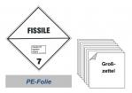Grosszettel 250x250 PE-Folie - Gefahrgutklasse 7E spaltbar