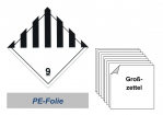 Grosszettel 300x300 PE-Folie - Gefahrgutklasse 9