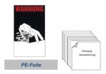 """Warnkennzeichnung Kühlmittel """"Blanko"""" auf PE-Folie"""