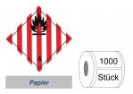 Gefahrzettel 100x100 Papier - Gefahrgutklasse 4.1