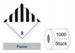 Gefahrzettel 100x100 Papier - Gefahrgutklasse 9