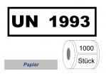 UN-Nummernaufkleber :  UN 1993