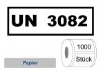 UN-Nummernaufkleber :  UN 3082