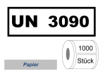 UN-Nummernaufkleber :  UN 3090