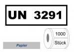 UN-Nummernaufkleber :  UN 3291