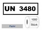 UN-Nummernaufkleber :  UN 3480