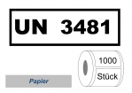 UN-Nummernaufkleber :  UN 3481