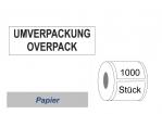 "Gefahrgutlabel ""UMVERPACKUNG"" Papier 74x105"