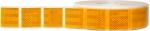 Reflexfolie gelb (hinten + seitlich) für Planengewebe