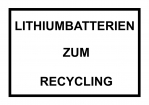 "Label SV 377 ""Lithiumbatterien zum Recycling"""