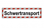 "Hinweisschild ""Schwertransport"" Klebefolie"