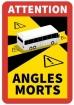 """Kennzeichnung """"Toter Winkel/Angles Morts"""" für BUSSE / PE-Selbstklebefolie"""