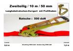 Ratschen-Zurrgurt 50mm / 10m Profilhaken (1,0/9,0) / 500 daN