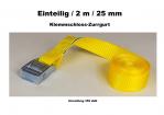 Klemmschloß-Zurrgurt 1-25mm / 2 m einteilig