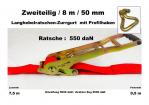 Ratschen-Zurrgurt 50mm / 8m Profilhaken (0,5/7,5) / 550 daN