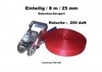 Ratschen-Zurrgurt 1- 25mm / 8m einteilig / 200 daN