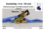 Ratschen-Zurrgurt 2- 35mm / 4m Zurrschiene (0,5/3,5) / 200 daN
