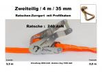 Ratschen-Zurrgurt 2- 35mm / 4m Profilhaken (0,5/3,5) / 240 daN