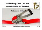 Ratschen-Zurrgurt 50mm / 4m Profilhaken (0,4/3,6) / 350 daN