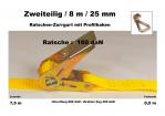Ratschen-Zurrgurt 2- 25mm / 8m Profilhaken (0,5/7,5) / 160 daN