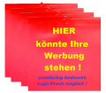 Warnflaggen-Satz für überhängende Lasten, mit Werbedruck zweifarbig