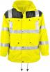 Warnschutz-Parka gelb-grau / Größe nach Auswahl