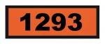 UN1293 ADR-Warntafel, 300x120, Klebefolie
