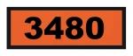 UN3480 ADR-Warntafel, 300x120, Klebefolie