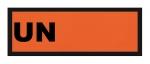 ADR-Warntafel, 300x120, reflektierend, PE-Folie mit UN-Nummer