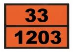 Ziffern-Warntafel, magnetisch, mit Aufdruck 33/1203
