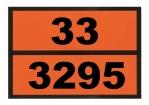 Einschub-Warntafel, Prägung 33/3295
