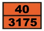 Ziffern-Warntafel, Klebefolie 40/3175, reflektierend