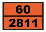 Ziffern-Warntafel, Klebefolie 60/2811, reflektierend