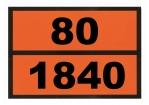 Ziffern-Warntafel, magnetisch, mit Aufdruck 80/1840