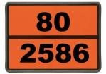 Einschub-Warntafel, Prägung 80/2586 mit Kantenschutz