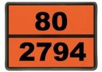 Einschub-Warntafel, Prägung 80/2794, mit Kantenschutz