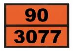 Ziffern-Warntafel, magnetisch, mit Aufdruck 90/3077