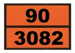 Ziffern-Warntafel, Klebefolie 90/3082, reflektierend