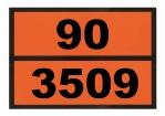 Ziffern-Warntafel, Klebefolie 90/3509, reflektierend