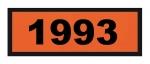 UN1993 ADR-Warntafel, 300x120, Klebefolie