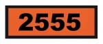 UN2555 ADR-Warntafel, 300x120, Klebefolie