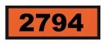 UN2794 ADR-Warntafel, 300x120, Klebefolie