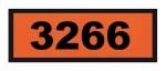 UN3266 ADR-Warntafel, 300x120, Klebefolie