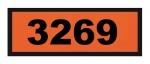 UN3269 ADR-Warntafel, 300x120, Klebefolie