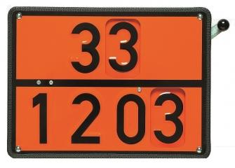 Zweistoff-Drehwechsel-Warntafel 30-1202 / 33-1203