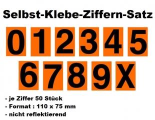550 Stück Klebe-Nummernziffern für Ziffern-Warntafel