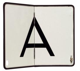 A-Warntafel, vertikal klappbar