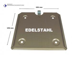 Steck-Grundplatte für 250mm Großzettel / Edelstahl