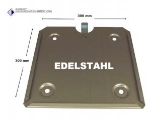 Steck-Grundplatte für 300mm Großzettel / Edelstahl