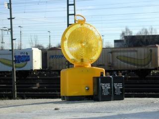 Warnblinkleuchte für Baustellen (gelb)